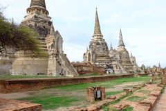 Si sanphet tempel van Phra Stock Fotografie