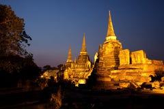 Si Sanphet van Wat Phra van de tempel van Ayutthaya beroemd Royalty-vrije Stock Afbeeldingen
