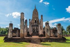 Si Satchanalai历史公园在泰国 免版税库存照片