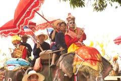 Si Satchanalai Elephant Back Ordination Procession. Stock Images