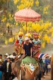 Si Satchanalai Elephant Back Ordination Procession. Stock Photo