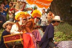 Si Satchanalai Elephant Back Ordination Procession. Royalty Free Stock Photography