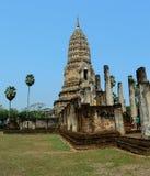 SI Satchanalai Wat Phra Si Rattana Mahathat images libres de droits