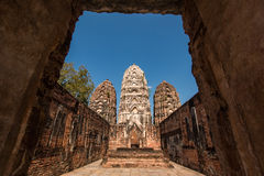 Si Sawai, Historisch Park, Sukhothai van Wat Royalty-vrije Stock Foto