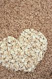 si sfalda i semi dell'avena dell'avena del cuore Fotografia Stock