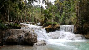 Si siklawa, Laos Zdjęcie Royalty Free