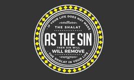 Si su vida no hace el shalat como el pecado ilustración del vector