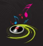 Si sviluppa a spiraleare il tema di musica Fotografia Stock