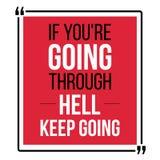 Si vous passez par l'enfer, continuez à aller illustration de vecteur