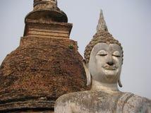SI WAT SA DA BUDA, PARQUE NACIONAL DE SUKHOTHAI, TAILÂNDIA Fotografia de Stock Royalty Free