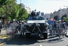 Siły policyjne w centrum Belgrade Obraz Stock