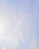 Siły Powietrzne thunderbirdów pokaz lotniczy - Cztery samolotu Zdjęcie Stock