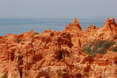 sia пляжа fal s algarve Стоковая Фотография
