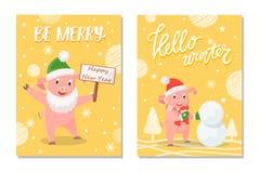 Sia buon anno allegro e ciao vettore dell'inverno royalty illustrazione gratis
