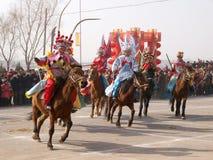 Sia a cavallo attore nella manifestazione Fotografia Stock Libera da Diritti