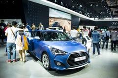 Ásia China, Pequim, exposição internacional do automóvel 2016, salão de exposição interno, carros de esportes básicos, Hyundai Ve Foto de Stock