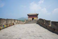 Ásia China, Pequim, o Grande Muralha Juyongguan, torre de vigia, etapas Imagens de Stock