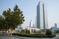 Ásia China, Tianjin, parque da música, ¼ Œ do architectureï da paisagem Foto de Stock Royalty Free
