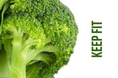 Sia a dieta, concetto di salute, macro vicina su dei broccoli Immagine Stock
