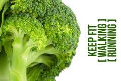 Sia a dieta, concetto di salute, macro vicina su dei broccoli Fotografie Stock