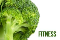 Sia a dieta, concetto di salute, macro vicina su dei broccoli Fotografia Stock Libera da Diritti