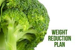 Sia a dieta, concetto di salute, macro vicina su dei broccoli Fotografia Stock