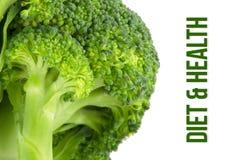 Sia a dieta, concetto di salute, macro vicina su dei broccoli Immagini Stock