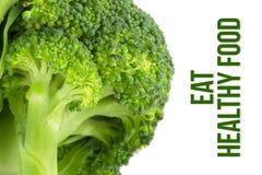 Sia a dieta, concetto di salute, macro vicina su dei broccoli Fotografie Stock Libere da Diritti