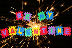 Sia il mio biglietto di S. Valentino immagini stock