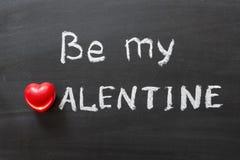 Sia il mio biglietto di S. Valentino Immagine Stock