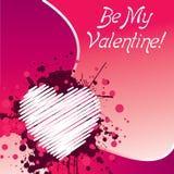 Sia il mio biglietto di S. Valentino - colore rosa Fotografia Stock Libera da Diritti