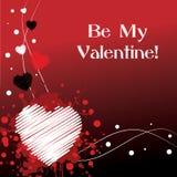 Sia il mio biglietto di S. Valentino - colore rosso Immagini Stock