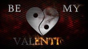 Sia il mio biglietto di S. Valentino in fiamme 4K royalty illustrazione gratis