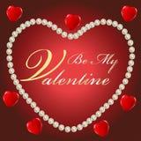 Sia il mio Valentine Card Fotografie Stock