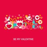 Sia il mio Valentine Greeting Concept Immagine Stock Libera da Diritti