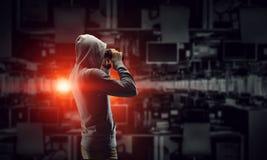 Sia informato dell'attacco del pirata informatico Media misti Media misti Fotografia Stock