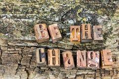 Sia l'atteggiamento positivo del cambiamento fotografie stock