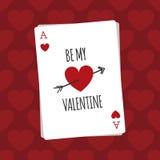 Sia la mia carta di giorno di S. Valentino Fotografie Stock Libere da Diritti