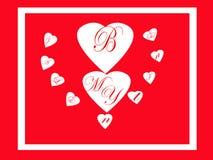 Sia la mia scheda del biglietto di S. Valentino Immagine Stock