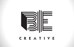 SIA progettazione di Logo Letter With Black Lines Linea vettore Illus della lettera Fotografia Stock