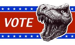 Sia responsabile - manifesto di elezioni presidenziali con Fotografia Stock