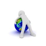 Sia sul globo illustrazione vettoriale