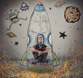 Sia un astronauta Fotografia Stock Libera da Diritti