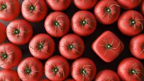 Sia un concetto differente, i pomodori del cubo, 3d rendono illustrazione di stock