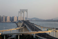 Sia Van bridge en Macau Foto de archivo