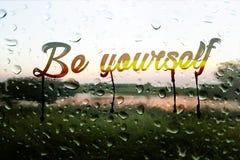 Sia voi stessi fotografia stock
