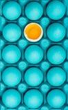Sia voi stessi concetto creativo di arte visiva con le uova dipinte fotografie stock libere da diritti