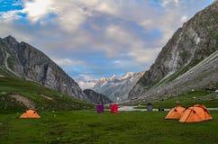Siagoru Campsite. Camps at Siagoru valley, Spiti, Himachal pradesh, India Stock Photo