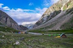 Siagoru Campsite II. Camps at Siagoru valley, Spiti, Himachal pradesh, India Royalty Free Stock Photos