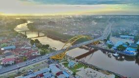 Siak most III Riau, Indonezja w Pekanbaru mieście, - Obraz Stock